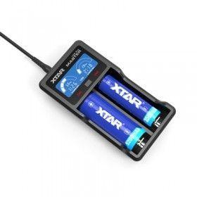 Xtar VC2 Plus 2-Schacht USB-Ladegerät