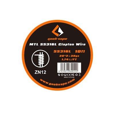 Geek Vape Wickeldraht - MTL SS316L Clapton Wire - 28ga*2 + 38ga