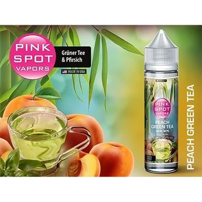 Pink Spot Vapors - Shake & Vape Liquid - Peach Green Tea